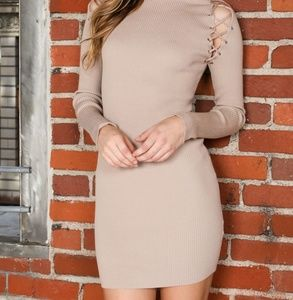 Dresses & Skirts - Long Sleeve Dress w/shoulder lace up
